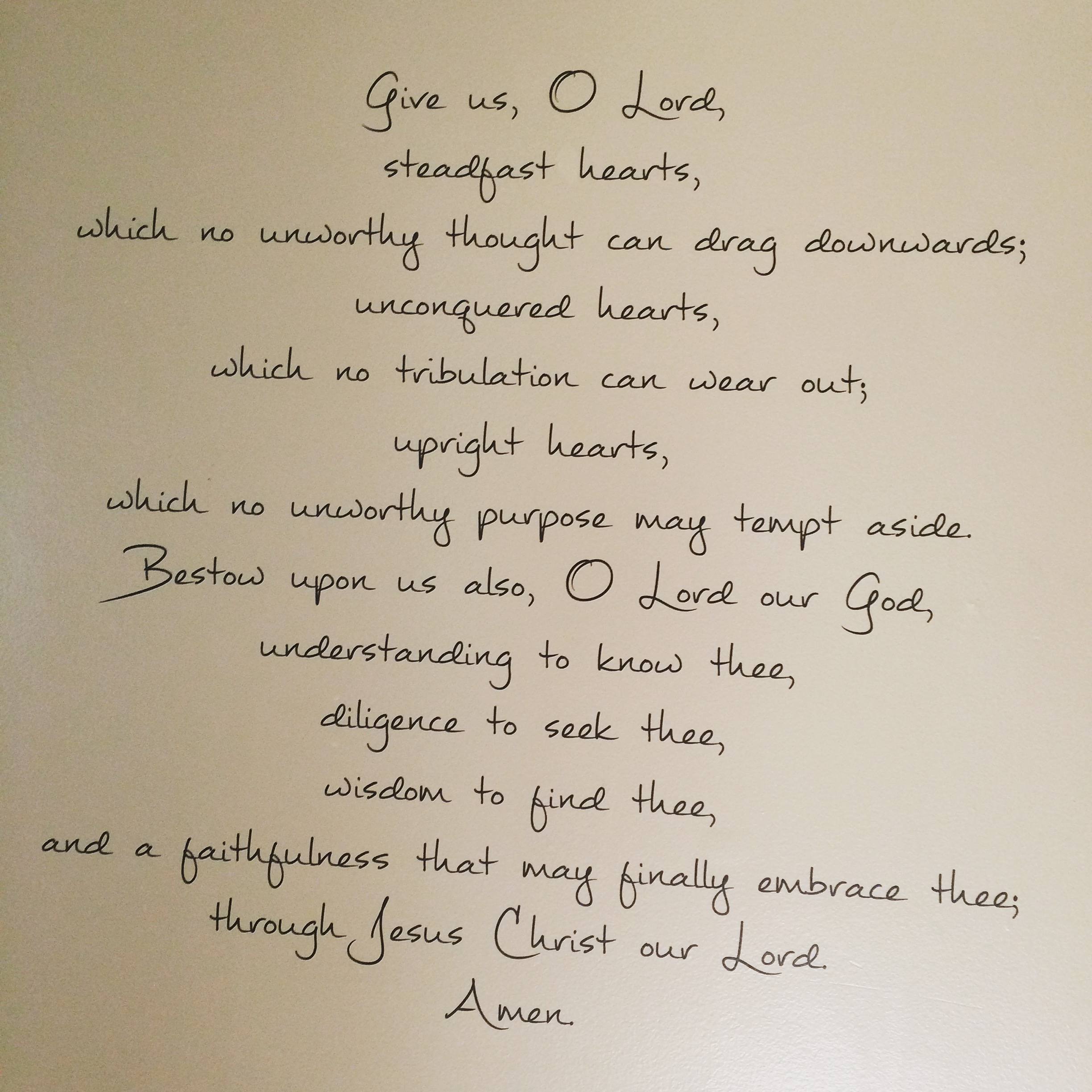 Give Us, O Lord